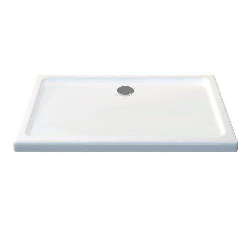 100x80 Duschtasse Duschwanne Extra flach 50 mm Rechteck Weiß