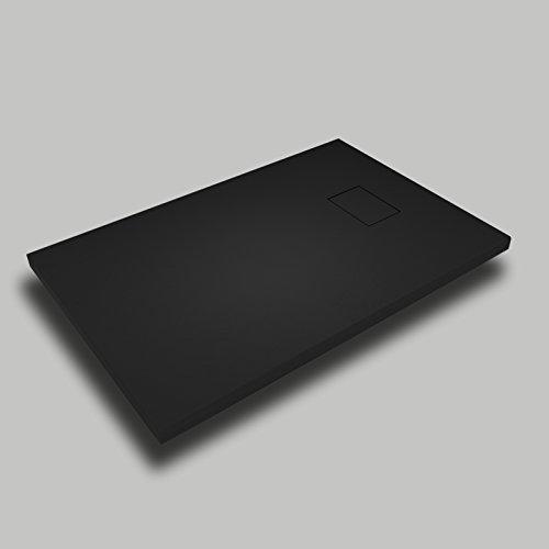 Duschtasse Steineffekt Schiefer Stone SMC no marmoresina H 2.6cm Weiß Taupe Beige Grau Beton anthrazit 708090100120140160Duschabfluss inklusive