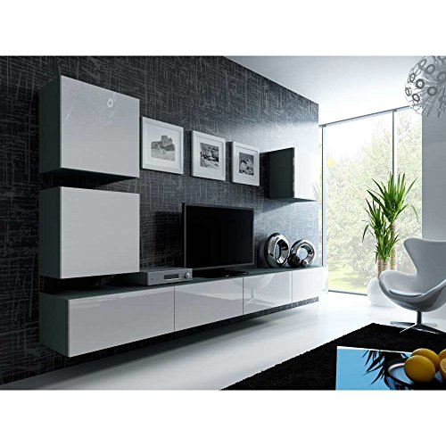 justyou vago xxii quadrat wohnwand anbauwand schrankwand. Black Bedroom Furniture Sets. Home Design Ideas