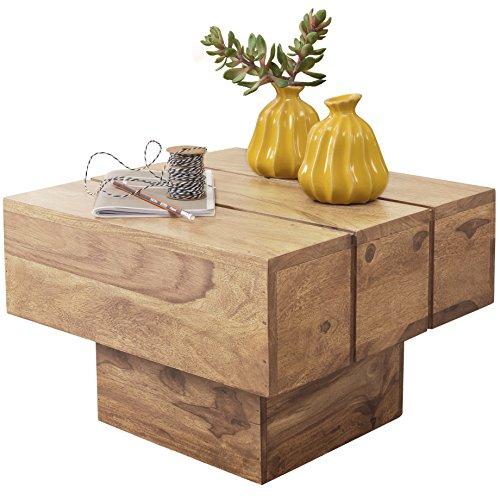 wohnling couchtisch viereckig massivholz akazie design wohnzimmertisch 44 x 44 cm quadrat 30 cm. Black Bedroom Furniture Sets. Home Design Ideas