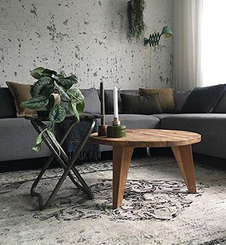 Rozenkelim.nl Neuer Teppich | im angesagten Shabby Chic Look | für Wohnzimmer, Schlafzimmer, Kindergarten | Grau (9508 225cm x 155cm)