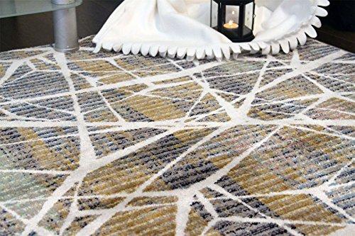 A2z Schnellspanner Teppich Modern Top Qualität (grün, beige, Multi 150x 225cm–4'22,9cm X 7' 10,2cm FT) Deco Collection aus Keramik Bereich Teppich, perfekt für Wohnzimmer–Esszimmer–Schlafzimmer Teppiche und Teppiche