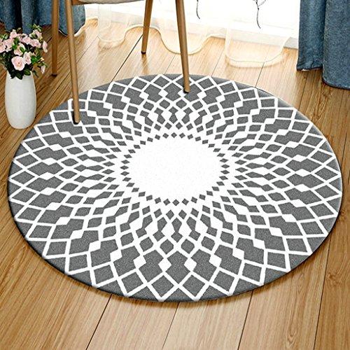 Teppich Persönlichkeit runden Teppich Wohnzimmer Yoga-Matten Schlafzimmer Nacht Teppiche Kinder Krabbeldecke Computer Stuhl Teppiche weich und bequem rutschfeste tragen und leicht zu reinigen ( Size : 140 cm diameter )