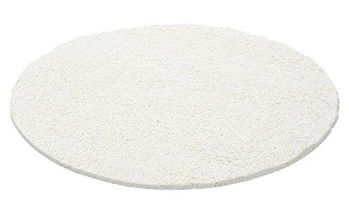 Hochflor Shaggy Teppiche für Wohnzimmer, Esszimmer, Gästezimmer, Jugendzimmer, Babyzimmer mit 3 cm Florhöhe einfarbig Wohnzimmer Teppiche. Die Teppiche mit OKOTEX zertifiziert und aus 100%Polypropylen hergestellt. Gewicht 2000 g/gm, Maße:60x110 cm, Farbe:Ivory