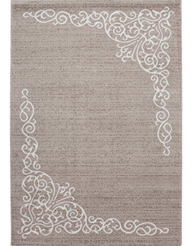 Savoy Teppich im Modernen Design Wohnzimmerteppich 11 mm Farbe Beige Größe: 160x230 cm
