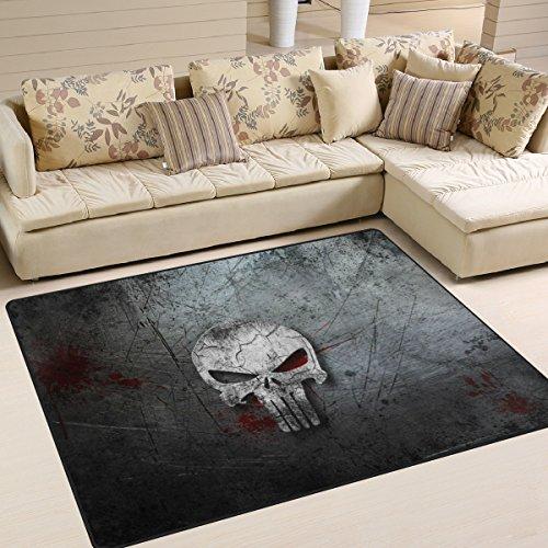 ingbags Super Weich Moderner Retor Totenkopf, ein Wohnzimmer Teppiche Teppich Schlafzimmer Teppich für Kinder Play massiv Home Decorator Boden Teppich und Teppiche 160x 121,9cm, multi, 80 x 58 Inch