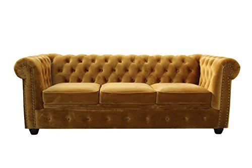 Chesterfield 3er Sofa Schlafsofa Old English Schraubenalge