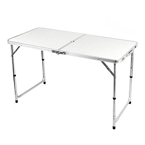 Lospu HY Portable Campingtisch aus Aluminium Gartentisch Höhenverstellbarer Klapptisch Koffertisch praktisches Kofferformat (1.2M)