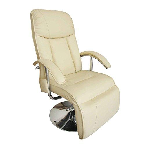 vidaXL Massagesessel Fernsehsessel Relaxsessel Massage+Heizung TV Sessel CRÈME